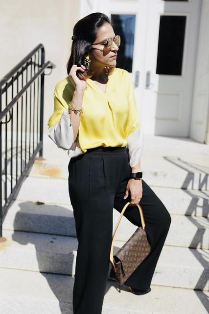 Lemon and Black Fall Look Tanvii.com