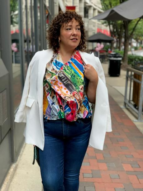 How to Style a Scarf into a Blouse