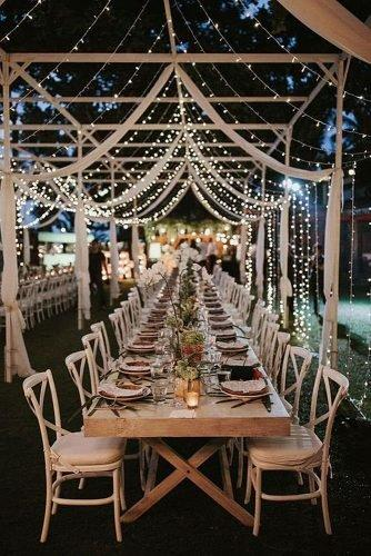 outdoor wedding ideas light strings