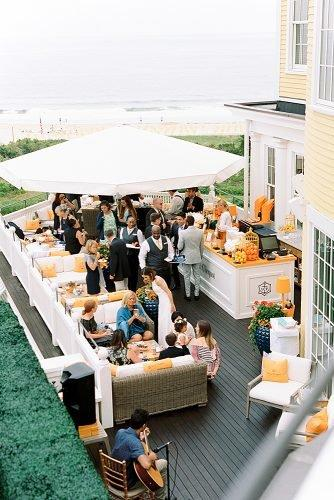 outdoor wedding ideas patio cocktail hour
