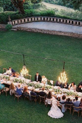 outdoor wedding ideas antique candelabras at the wedding reception