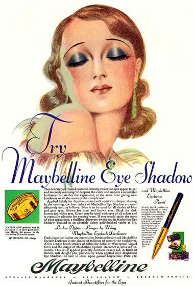 1930 Maybelline advertisement
