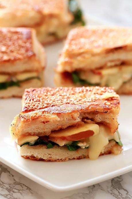 Brie, Apple, and Fig Grilled Cheese Sandwich