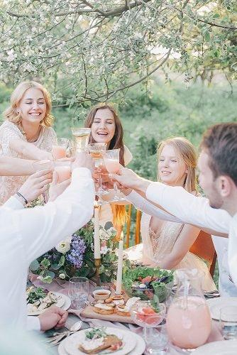 who to invite to an engagement party guests celebrate dinner
