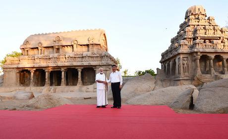 #WelcomeModiji ~ meet at Mamallapuram making global waves