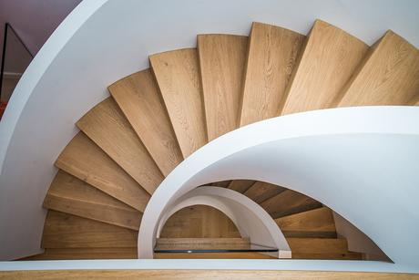 Art deco inspired spiral staircase