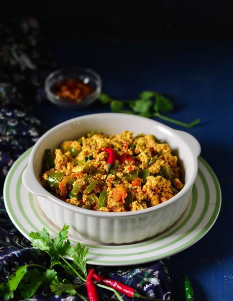 Paneer Bhurji Recipe, How To Make Paneer Bhurji, Dry Paneer Bhurji