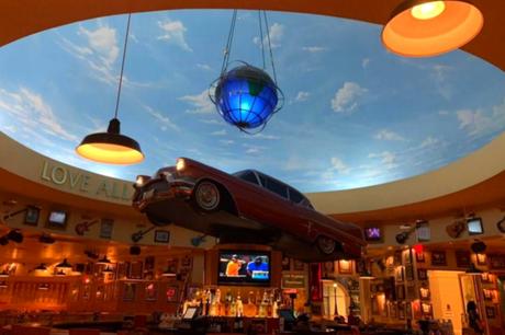 Great Food, Entertainment & Floating Vintage Car: Hard Rock Cafe Saipan