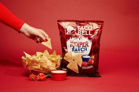 Taco Bell Launches Its Spiciest Chip Yet - Cue Reaper Ranch Tortilla Chips