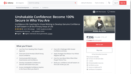 [Updated] Top 5+ Best Confidence Classes Online With Certification 2019 @$29