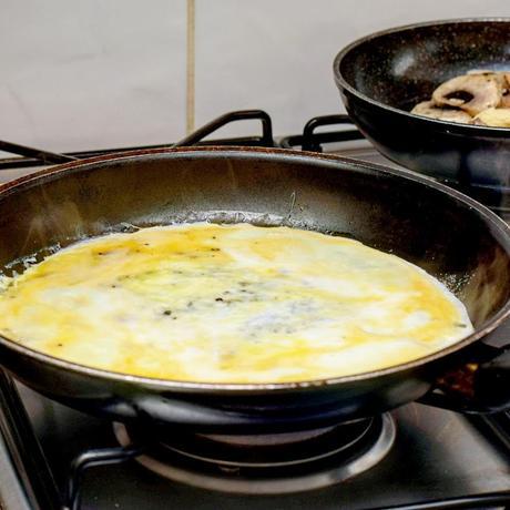 Recipe|| Mushroom, Kale & Tomato Omelette Wrap
