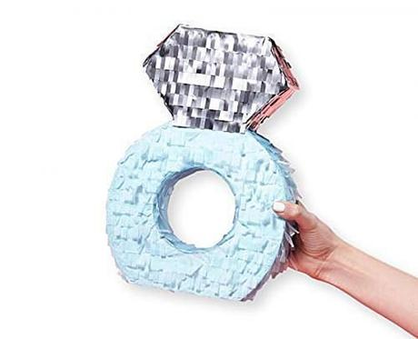 engagement party decorations diamond ring pinata