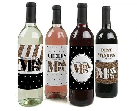engagement party decorations wine bottle label stickers