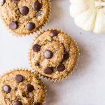 TheseGluten-Free Vegan Chocolate Chip Pumpkin Muffinsare fluffy, chocolatey, and full of warm pumpkin spices! These are perfect for meal prepping since they freeze well and make a wonderful breakfast, snack, or dessert.
