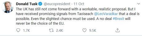 Donald Tusk workable solution tweet