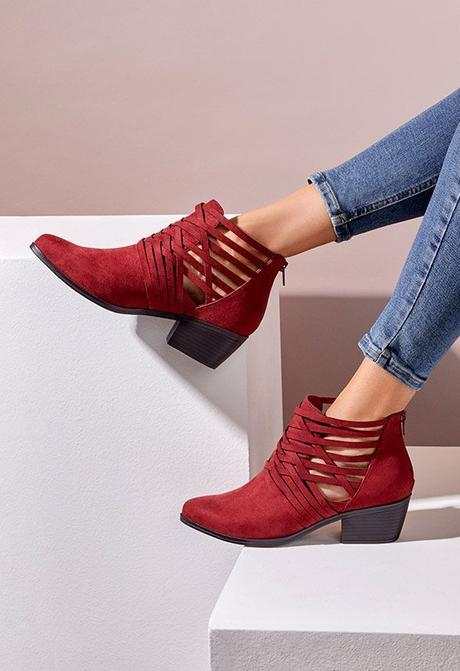 wine bootie, cut out bootie, fall
