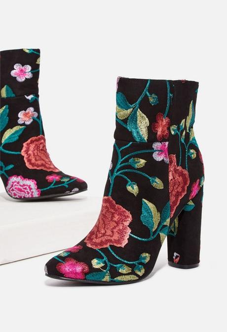 Fall Boots, embroidered booties
