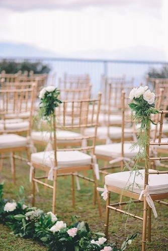 wedding ideas for summer flower wedding chair decor