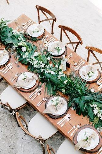 wedding ideas for summer greenery table runner
