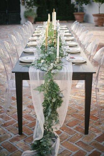 wedding ideas for summer chiffon table decor