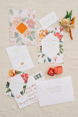 wedding ideas for summer wedding stationery floral invitations