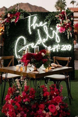 wedding ideas for summer wedding reception neon sign