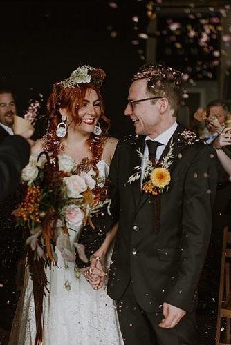 irish wedding blessing newlyweds exit wedding ceremony