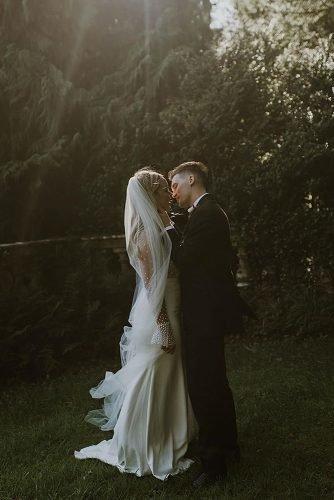 irish wedding blessing bride and groom kissing