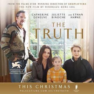 """241. Japanese filmmaker and screenplay writer Hirokazu Kore-eda's French/English feature film """"Le vérité"""" (The Truth) (2019):  Impressive, yet not as fascinating as a few of his earlier feature films"""