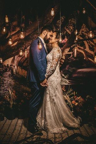 home wedding wedding ceremony bride and groom