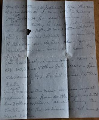 A Letter from My Great Great Grandmother