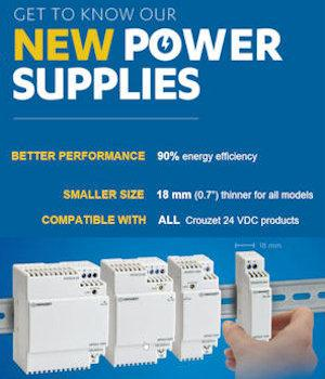 Crouzet Launches New Compact Power Supplies