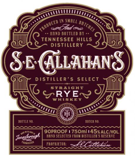 S.E. Callahan's Rye Label