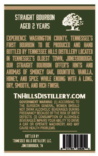 S.E. Callahan's Bourbon Label - Back