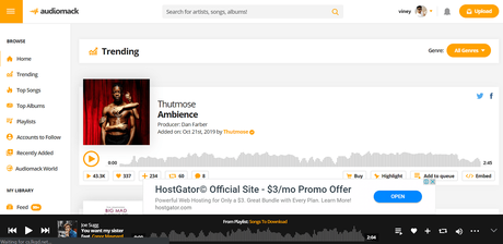 audiomack - best sites to download english songs free