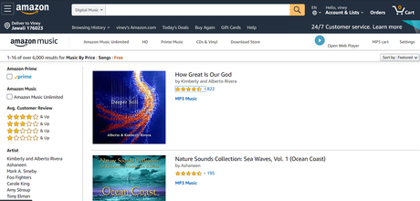 amazon music - best sites to download english songs free