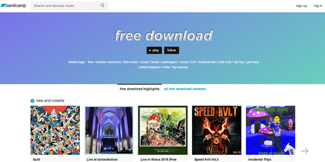bandcamp - best sites to download english songs free
