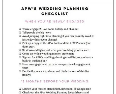 wedding planning spreadsheet apracticalwedding free wedding planning checklist