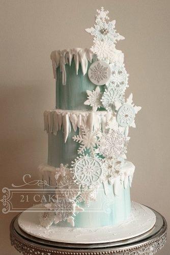 christmas wedding ideas snowflake wedding cake