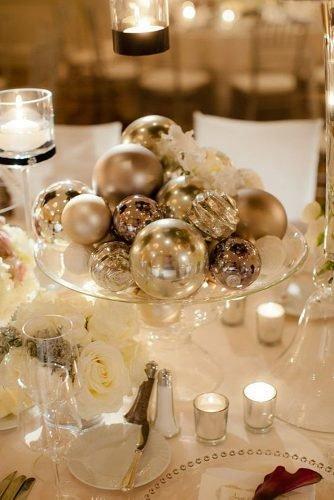 christmas-wedding ideas wedding centerpiece with silver bowls