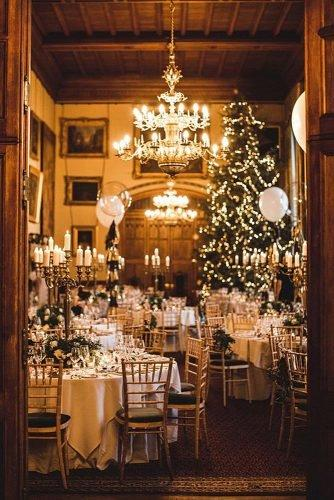 christmas wedding ideas christmas tree at the wedding reception