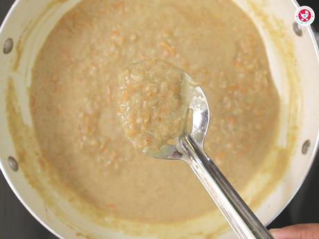 Carrot Poha Kheer for babies