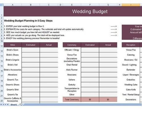 wedding budget spreadsheet brideside wedding budget planning spreadsheet
