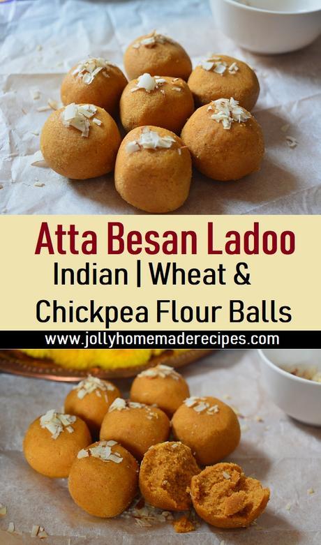 Atta Besan Ladoo, How to make Besan Atta Laddu Recipe | Wheat and Chickpea Flour Balls