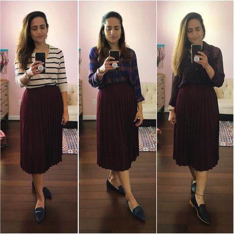 Three Ways Burgundy Skirt