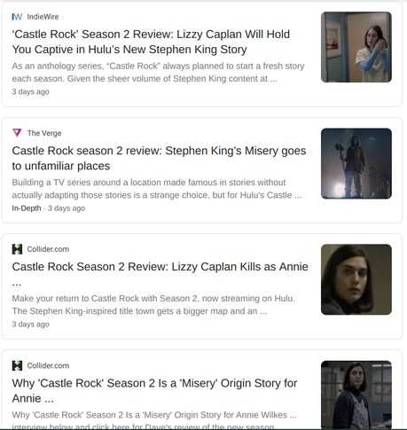 31 Days of Halloween: Castle Rock: Season 2