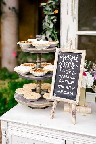 fall wedding party fall wedding menu mini pies
