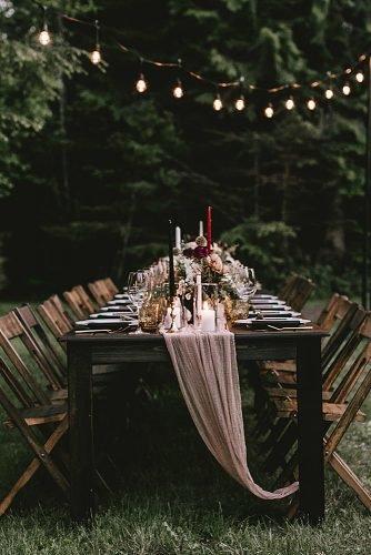 fall wedding party fall wedding reception decor