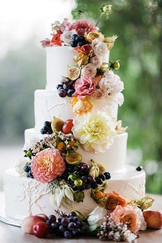 fall wedding party rustic fall wedding cake with flowers
