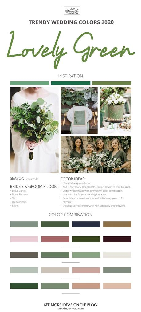 wedding colors 2020 lovely green wedding theme